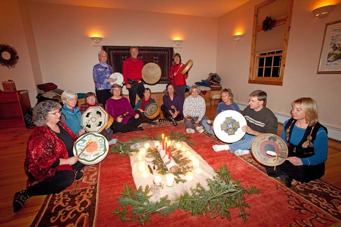 Drumming at the Winter Solstice Celebration